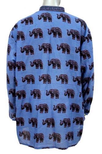 Indian Kurta Shirt Animal Print 100/% Cotton Men/'s Plus Size Big and tall