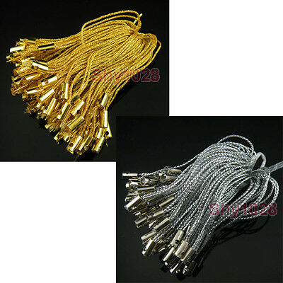 50Pcs  Mobile Cell Phone Dangle Strap String Thread Cord Gold,Silver P1011