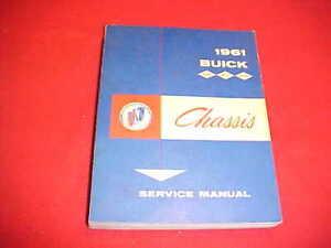 1961 BUICK LESABRE INVICTA ELECTRA SERVICE SHOP MANUAL ...