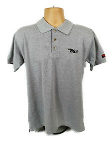 BSA 6 Thunderbolt Polo Brand New Black T Shirt Official Licensed BSA T Shirt