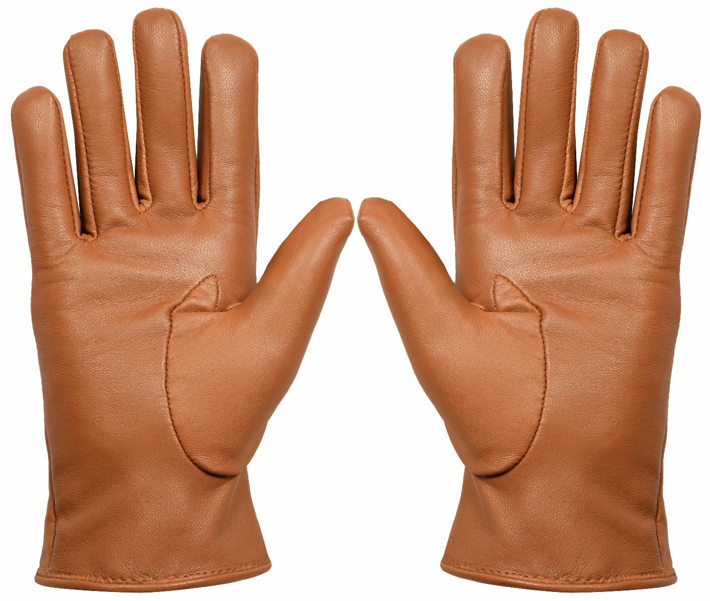 Women Genuine Nappa Leather Gloves Thermal Lined Driving Winter Classic Tan