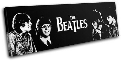 The Beatles Grunge Abstract Musical SINGLE CANVAS WALL ART Picture Print VA