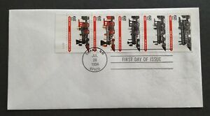 USA-1994-Locomotive-Trains-Stamp-FDC-official-iss-mild-toned-Lot-B