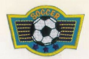 Soccer Ball European Football Blue Wings Embroidery Patch Badge