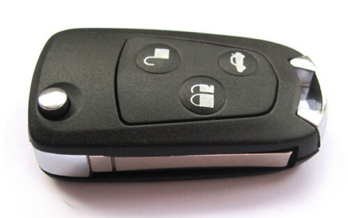 Remote Folding Key Flip Shell Case Uncut Blank For Ford Focus Mondeo 3 Buttons