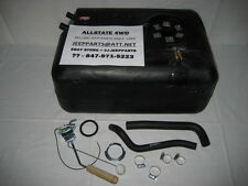 JEEP CJ CJ5 CJ7 POLY PLASTIC GAS TANK KIT SENDING UNIT, HOSES 1978-1986 NEW