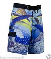Guy Harvey Tuna Strike Blue Boardshorts Fishing Boat Beach Pick Size. Fast Ship