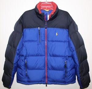 Polo-Ralph-Lauren-Mens-Blue-Black-Red-Down-Ski-Jacket-NWT-Size-M