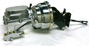 "flat top Master Disc Chevy 8/"" Dual Chrome Brake Booster KIT Drum GM A Body"