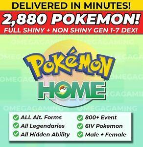 Pokemon-Home-2880-Pokemon-COMPLETE-Gen-1-7-DEX-800-EVENT-Legendary-ALL-Forms