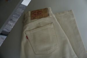 Levis-Levi-s-501-Herren-Men-Jeans-Hose-27-32-W27-L32-Stonewashed-Beige-Top-C4