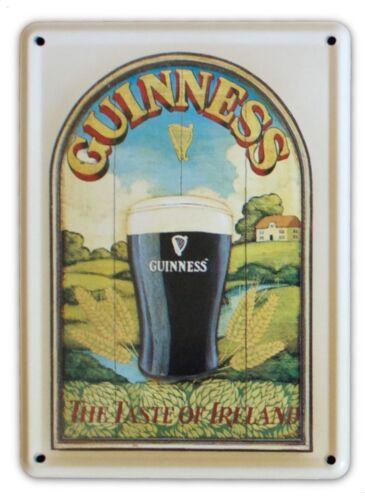 GUINNESS TASTE OF IRELAND Small Vintage Metal Tin Pub Sign