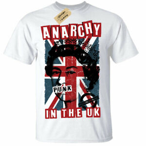 Anarchy in The UK Punk Rock T-Shirt Pistols rotten Womens Ladies Long Sleeve