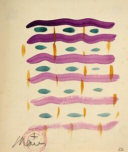 DéTerminé Saint-maur (1906-1979) Bordeaux Kermesse Aux Etoiles Abstrait Art Mural Malraux
