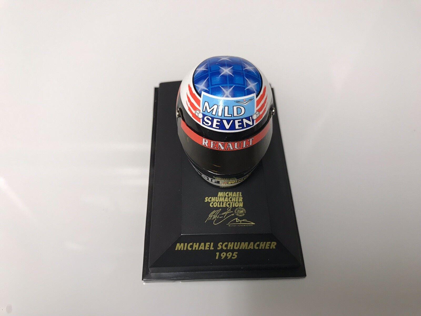 1 8 Minichamps Michael Schumacher Casque 1995 MILD SEVEN livrée