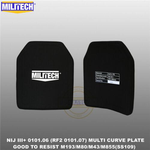 MILITECH NIJ III+//NIJ 0101.07 RF2 Alumina/&PE Bulletproof Plate From Size S To XL