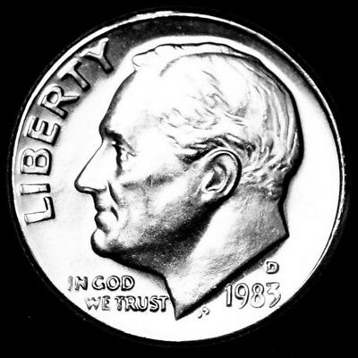 1973 D Roosevelt Uncirculated Dime ~ Raw Coin from Bank Roll