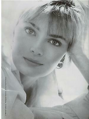 1991  PAULINA PORIZKOVA for ESTÉE LAUDER  Makeup Magazine Print AD 2-pg