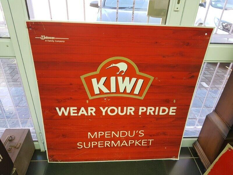 Kiwi Polish Metal Sign