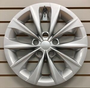 NEW-16-034-10-Spoke-Silver-Hubcap-Wheelcover-Fits-2015-2016-2017-Toyota-CAMRY