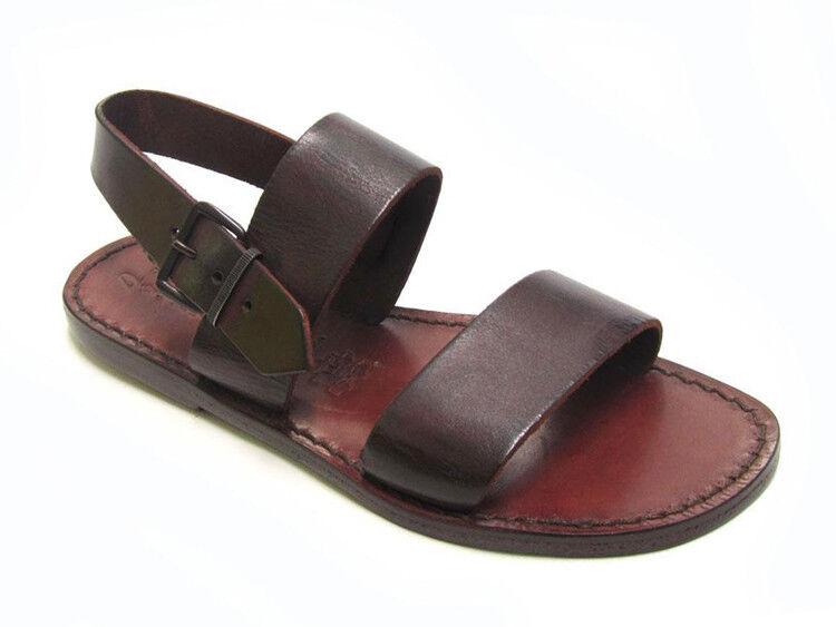 Braun Leder Damens's in franciscan slides Sandales handmade in Damens's  420c9a