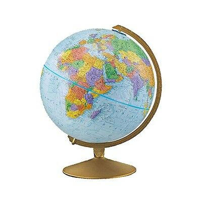 "Replogle Explorer Globe 12"" Metal Base Popular Geography Class Resource Tool"