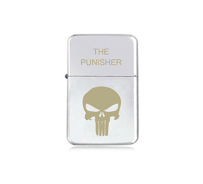★STAR★ engraved LIGHTER silver black pink gold THE PUNISHER anti hero MARVEL