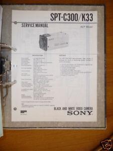 Aufrichtig Service Manual Sony Spt-c300/k33 Video Camera,original Um Eine Hohe Bewunderung Zu Gewinnen Und Wird Im In Tv, Video & Audio Und Ausland Weithin Vertraut.