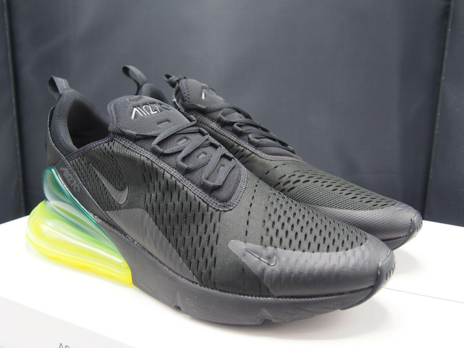 Nike Air Max 270 Black   Volt AH8050-011 Men's size 15 US