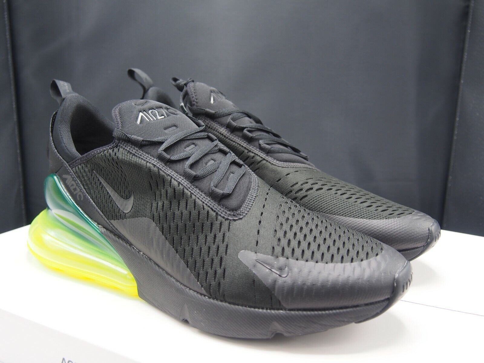best website 25d83 26b3e Nike Air Max 270 Black Volt Green Men's Size 15 Neon Ah8050-011