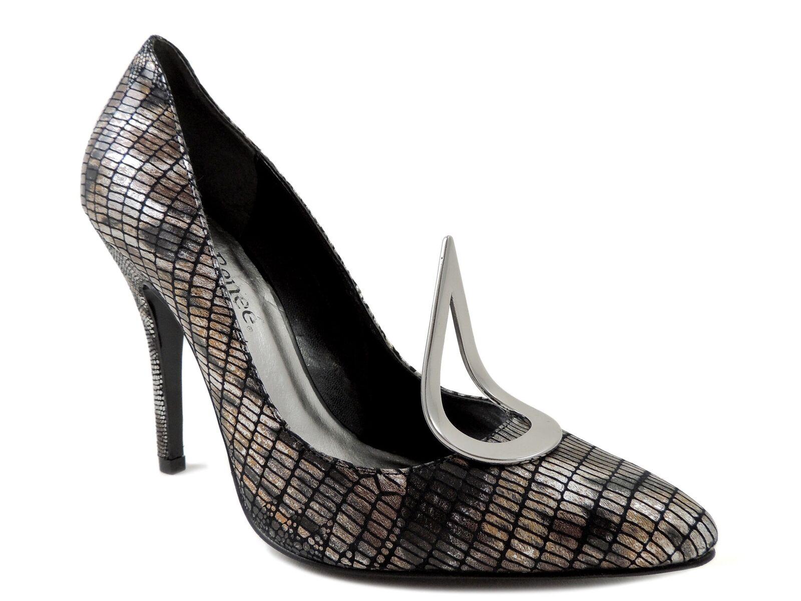 J. Renee para mujeres Cuero Estampado Serpiente Serpiente Serpiente homenaje bombas marcado tamaño 6.5 M  compra limitada