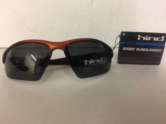 2163d3838d Hind Orange and Black Sport Running Sun Glasses Polarized Lens100 UV  Protection