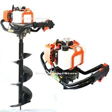 52cc Gas Power Post Hole Digger Fencing Dirt Soil Drill Machine With10 Auger Bit