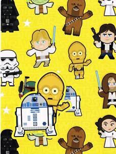 STAR-WARS-CARTOON-GIFT-WRAP-2-SHEETS-AND-2-GIFT-TAGS-NEW-GIFT