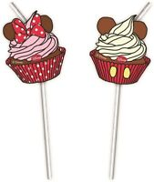 Minnie Mouse Cafe | Cupcake | Red Polka Dot Bow Party Straws 1-30pk
