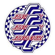 "Santa Cruz CHECK OGSC MYLAR Blue White Red 3.75/"" x 4/"" Decal Single Sticker"
