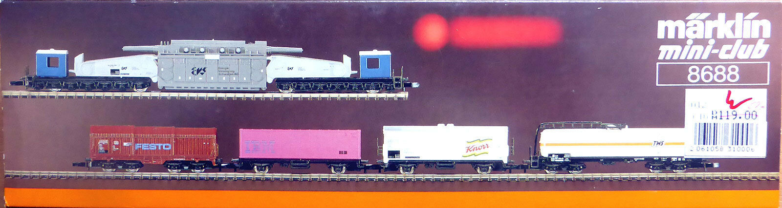 Z miniclub 8688; carri merci-Set  sudovest  DB, in scatola originale/f835