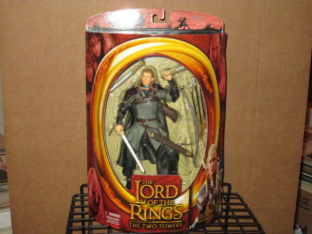 2002 LORD RINGS TWO TWO TWO TOWERS LEGOLAS ROHAN ARMOR 1st SERIES ACTION FIGURE MIP 5d3ce7