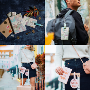 Sass /& Belle World Explorer Passport Holder Luggage Tag Travel Accessories Gifts