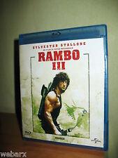 RAMBO 3 III BLU RAY NUOVO SIGILLATO SYLVESTER STALLONE