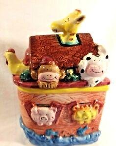Express-Productions-SS-Ark-Cookie-Jar-Cow-Giraffe-Pig-Elephant