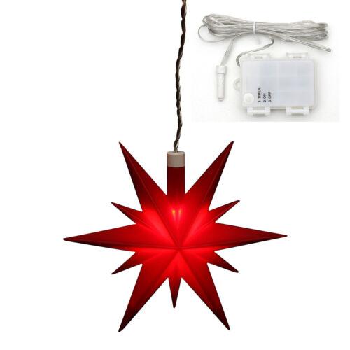 Timer 83 3421 A Étoile de Noël Advent étoile rouge avec DEL 13 cm incl