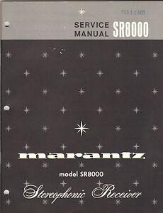 marantz sr8000 stereophonic receiver original service manual factory rh ebay com Parts Manual Truck Manual