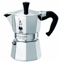 Bialetti 1 Cup Moka Express Stovetop Espresso Coffee Maker Pot Latte 2 Ounce
