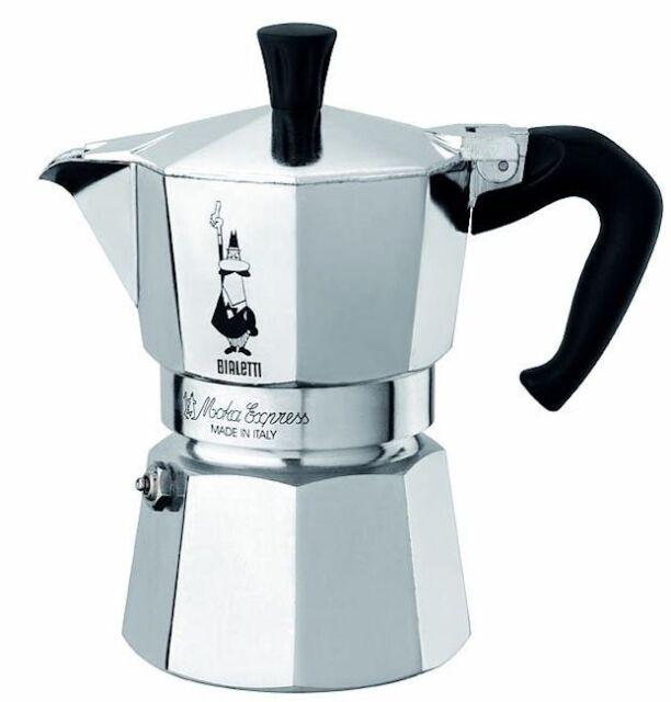 Moka Express Stainless Steel Coffee Maker for Gas /& Electric Stovetop-brews Stovetop Moka Espresso Maker 200ml//6.8Oz