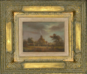 Harry-Taylor-Signed-amp-Framed-Mid-20th-Century-Oil-Cottage-Garden