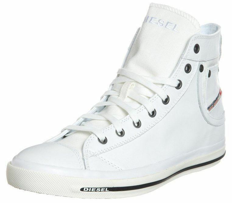 consegna rapida Diesel Diesel Diesel Exposure iv bianca nero New donna Leather Hi Top Trainers scarpe stivali  negozio di moda in vendita