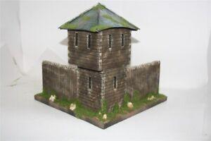3205-Fort-Georg-Washington-Eck-Palisade-mit-Turm-Wild-West-zu-7cm-Sammelfigure