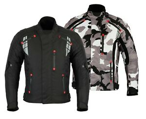 Mens-MCW-Gear-Camo-Motorcycle-Motorbike-Armour-Textile-Jacket-CE-Protector