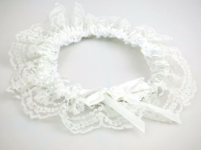 Wedding Bridal Lacey Garter Sexy Lingerie Hens Night Theme Bride To Be Costume